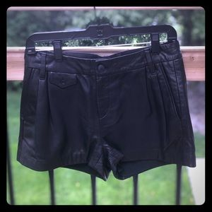Rag & bone lamb leather shorts Size 4